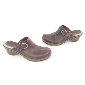 Bass Gorgeous Leather LEONA Clogs - Size 6.5 M